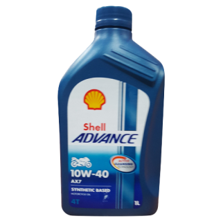 Shell Advance AX7 4T 10W40 Oil in Sri Lanka 1L